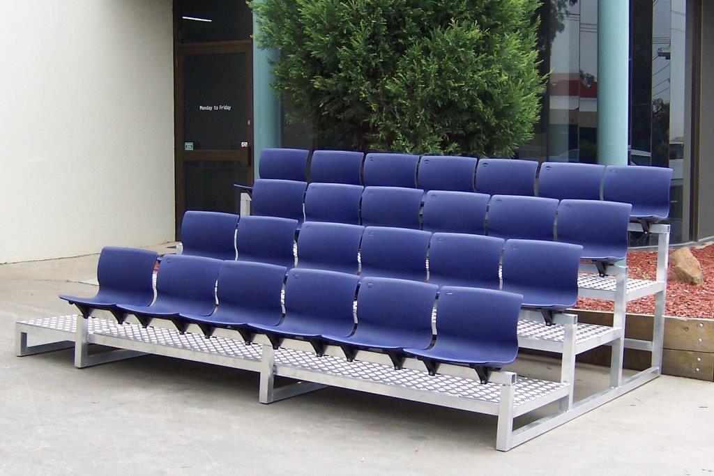 25 Seat granstand unit - Reverse Engineering - Custom Engineering Components